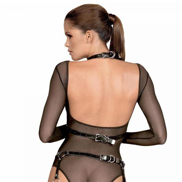 BDSM Brust Harness in Lederoptik mit offenen Cups