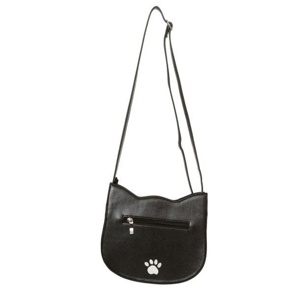 Retro Handtasche in Lederoptik - Black Cat