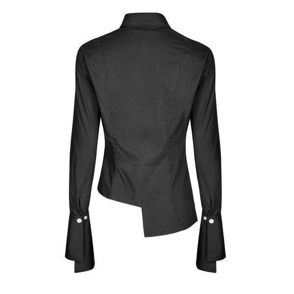 Bluse mit asymmetrischem Schnitt und Manschetten