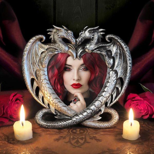 Dragons Heart Bilderrahmen in zweifarbigem Antik Look