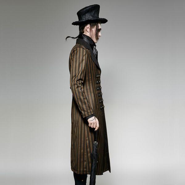 Steampunk Mantel Herren gestreift