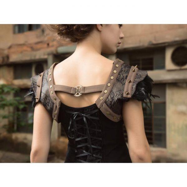 Steampunk Schulter Verzierungen im Bolero Look