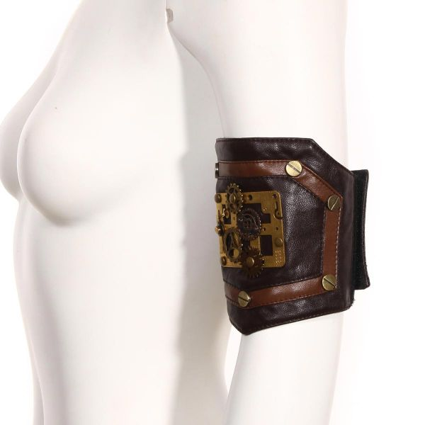 Steampunk Armband in Lederoptik