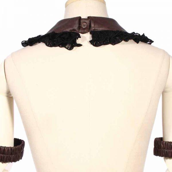 Gothic Rüschenkragen mit Halsband und Armbändern