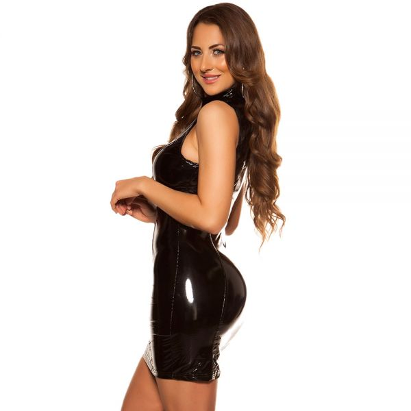 Bodycon Lack Minikleid