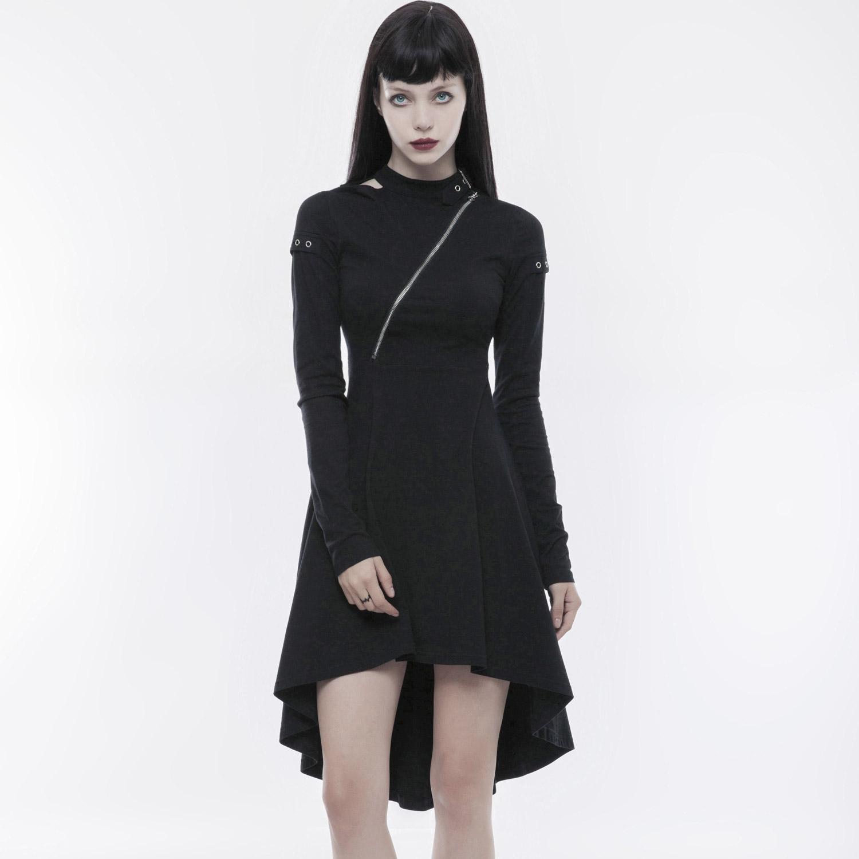 Punk Vokuhila Kleid Mit Zipper Und Stehkragen Voodoomaniacs