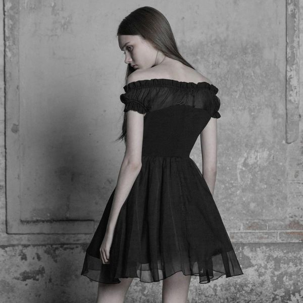 Minikleid im Corsagenlook mit Off-Shoulder Ausschnitt