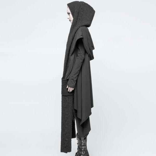 Gothic Style Jumbo Kapuzen Schal mit Taschen