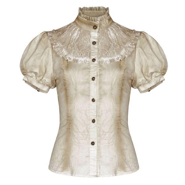 Steampunk Bluse im Grunge Style mit Spitze und Rüschen