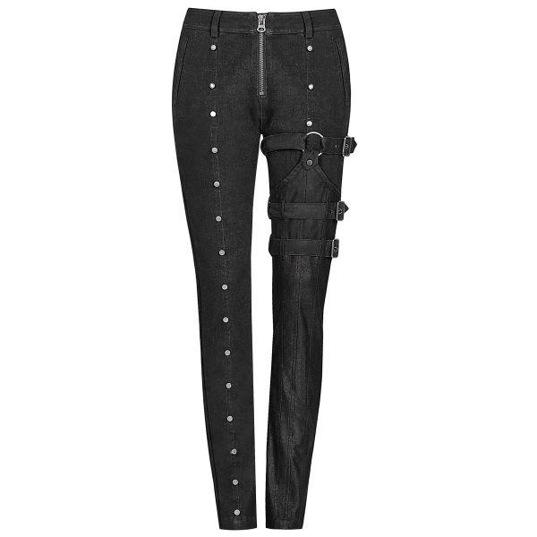 Slim Fit Hose im Industrial Look mit Bein Holster