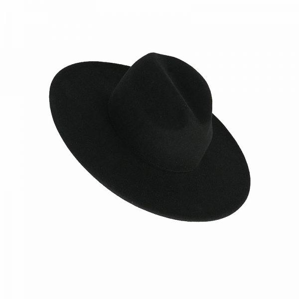 Hut mit breiter Krempe und Farn Motiven