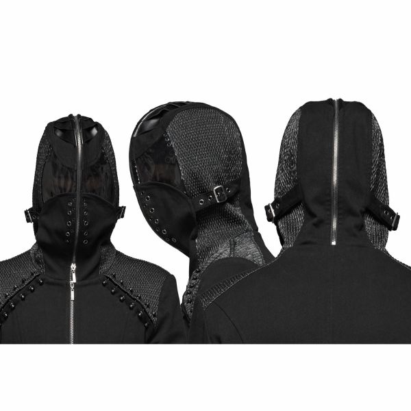 Futuristischer Mantel mit Kapuze im Kopfhauben Look