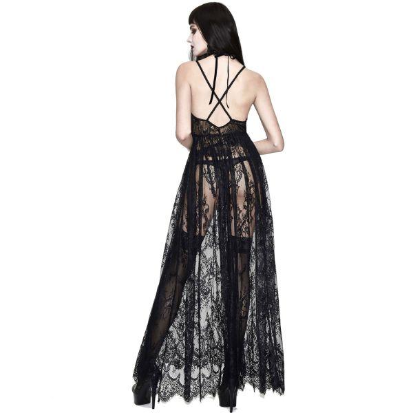 Sexy Kleid aus transparenter Spitze mit Ornament