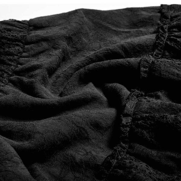 Langer schwarzer Rock im Vintage Look