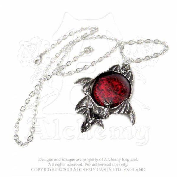 Kette mit Fledermaus und Blutmond - Blood Moon