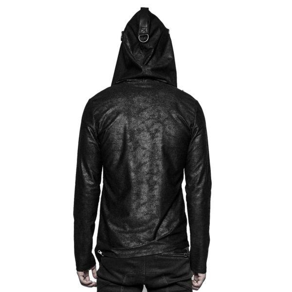 Industrial Shirt Jacke mit Oversize Kapuze und Zipper
