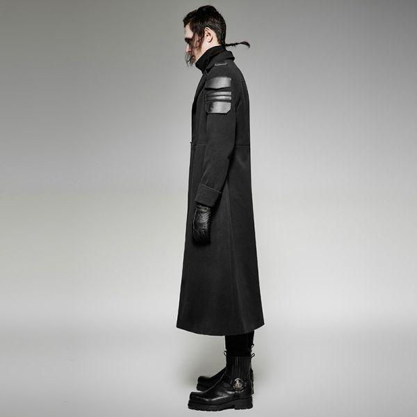Offiziersmantel im Gothic Style mit Epauletten