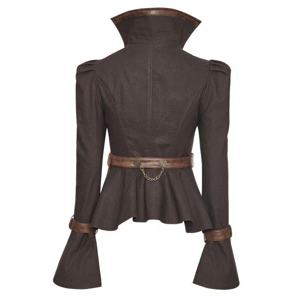 Gothic Style Jacke in Corsagenoptik mit Schößchen