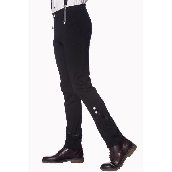 Slim Fit Hose im Military Look mit Hosenträger