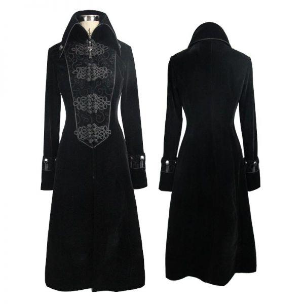 A-Linie Samt Mantel im Vampir-Stil mit Verzierungen