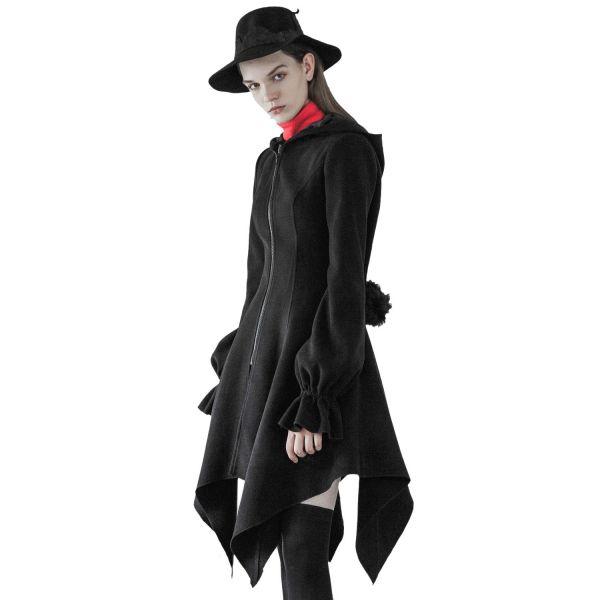 Pixie Coat Glockenmantel mit Zipfelkapuze