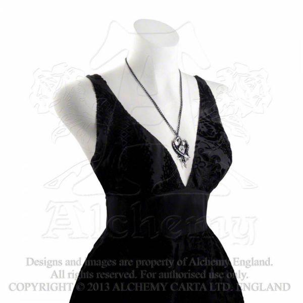Drachen Halskette - Diamond Heart