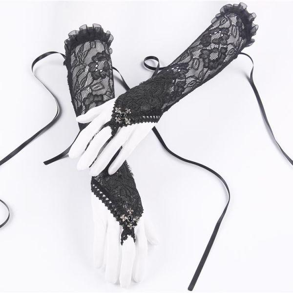 Armstulpen aus Spitze mit Ornament und Ring Verzierung