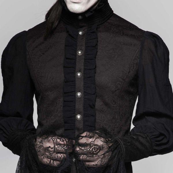 Viktorianisches Rüschenhemd im Schwalbenschwanz Look