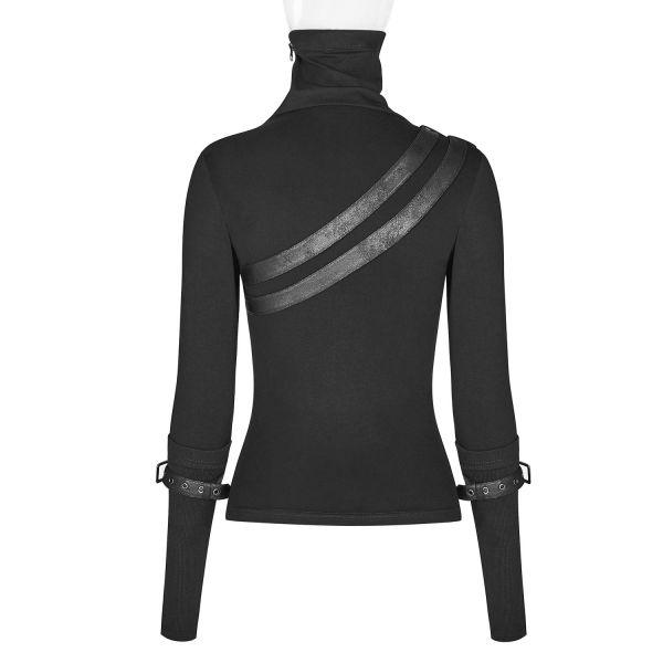 Industrial Shirt mit Riemen und asymmetrischem Zipper