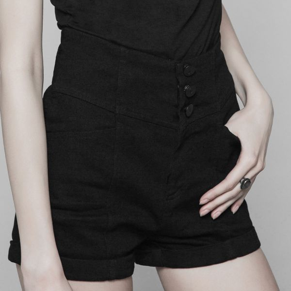 Daily Goth High Waist Shorts im Denim Style