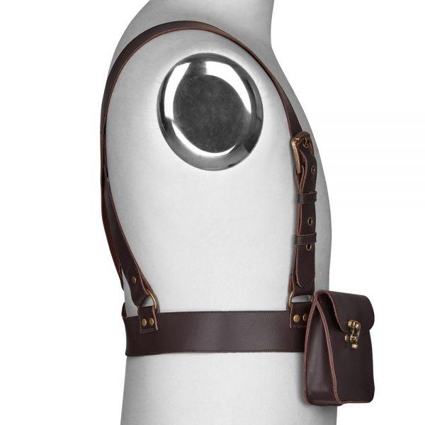Steampunk Harness in Lederoptik mit Gürteltasche