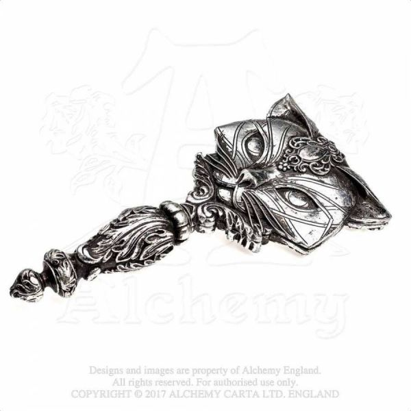 Handspiegel in viktorianischem Design - Sacred Cat