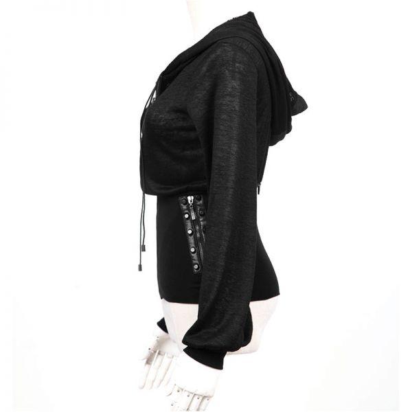 Kapuzenjacke mit Nieten und Taschen
