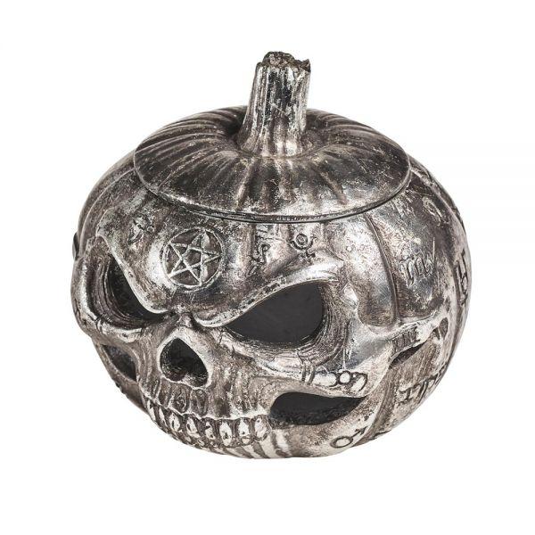 Morbid Pumpkin Head Halloween Deko und Windlicht