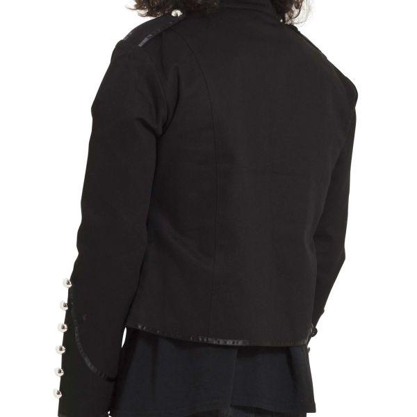Schwarze Jacke im Uniform Look mit Epauletten