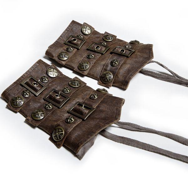 Steampunk Arm Manschetten mit Nieten und Schnallen