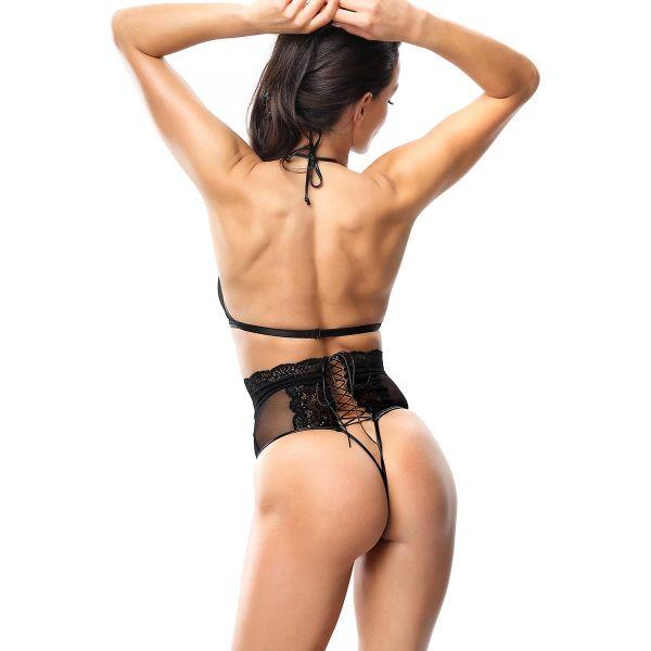 Ouvert Dessous Set mit po-freiem High Waist Panty