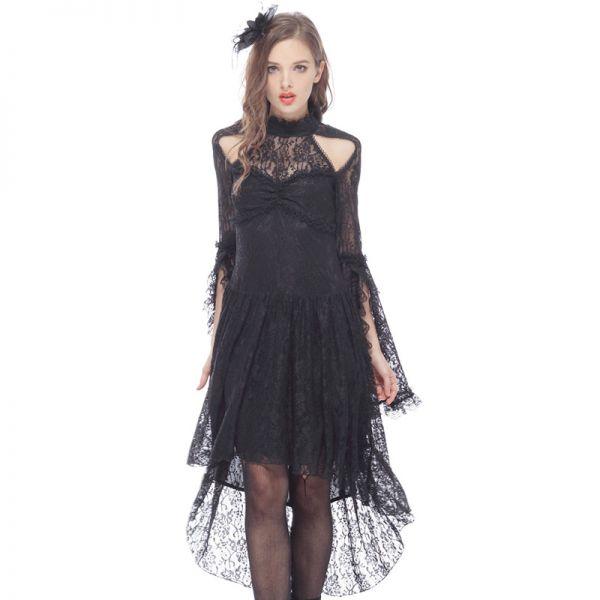 Vokuhila Spitzenkleid im sexy Dark Romantic Style