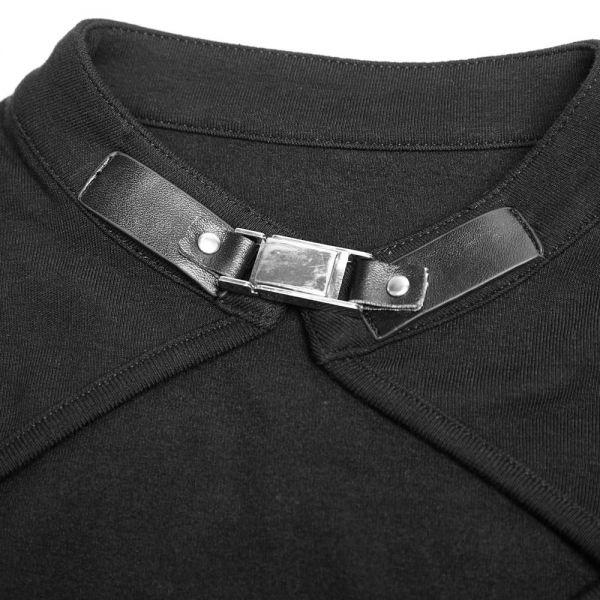 Shirt im Layering Bolero Look mit V-Ausschnitt