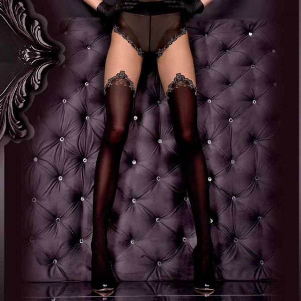 Nude Strumpfhose im Panty und Stockings Look