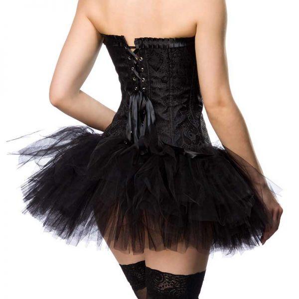 Schwarzer Tüll Mini Petticoat voluminös