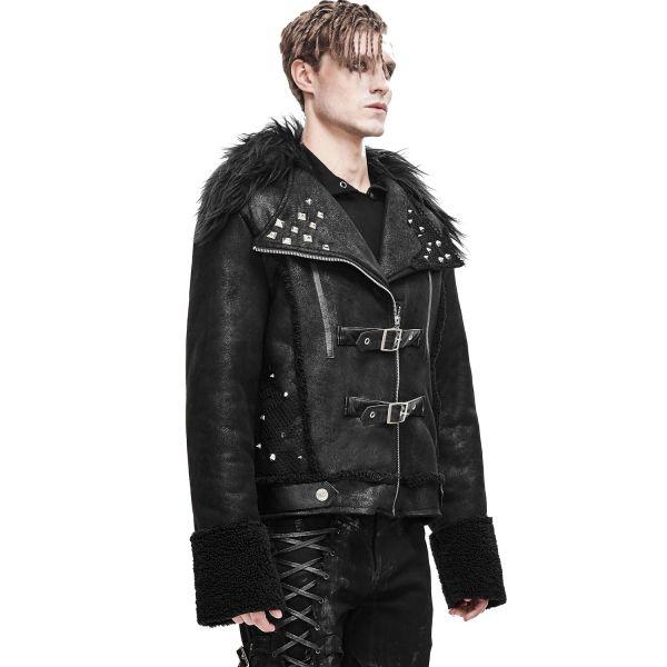 Devil Fashion Jacke in Biker Lederoptik