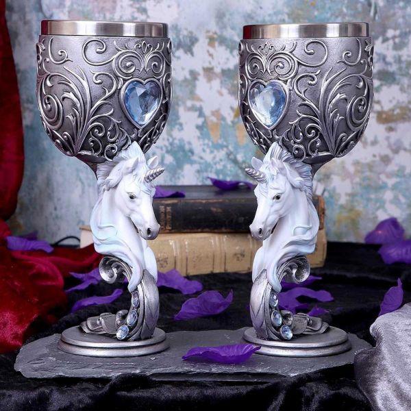 Enchanted Hearts Einhorn Weinkelche