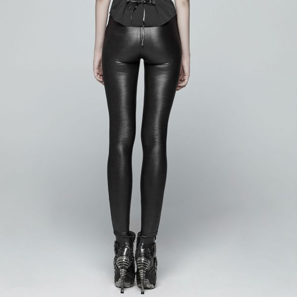 Wetlook Leggings in zerschlitzem Destroyed Look