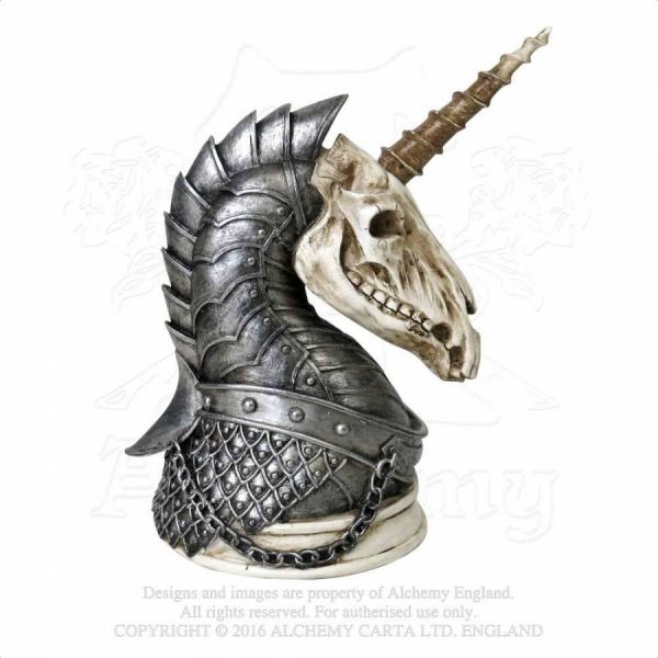 Einhorn Totenschädel Skulptur - Geistalon Unicorn