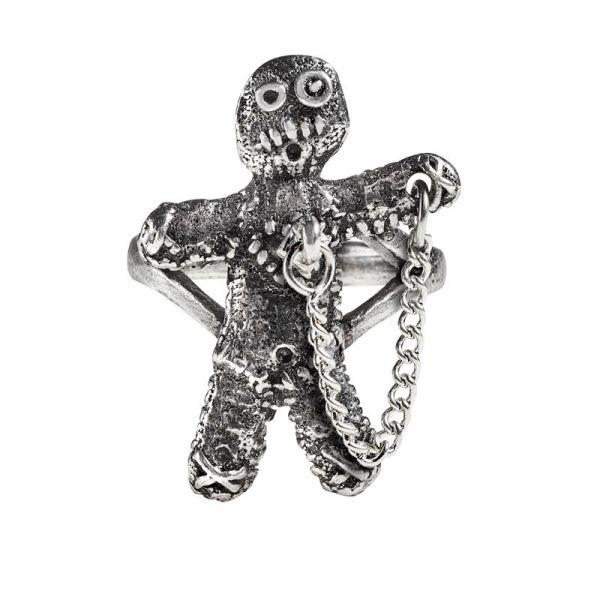 Voodoo Doll Ring mit Kette und Pflock