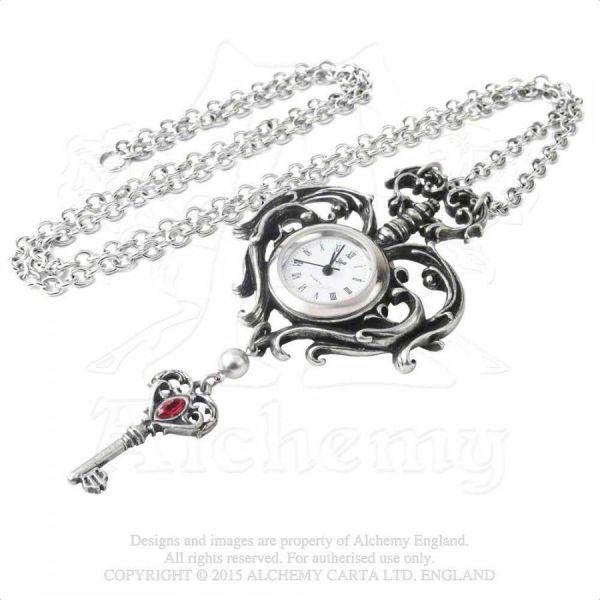 Halskette mit Schlüssel und Uhr - Temp de Sentiment