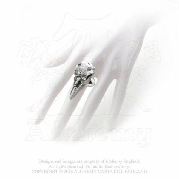 Ring im Gothic Style mit Krähen Schädel - Rabeschadel