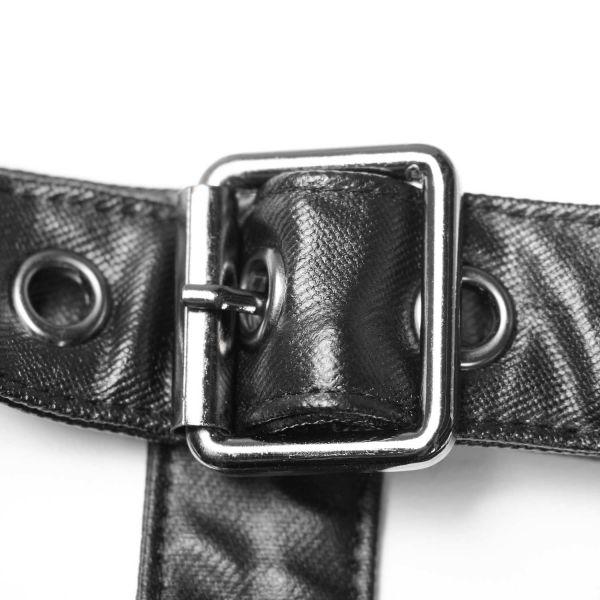 Lederimitat Harness Top im Warrior Style mit Umhang