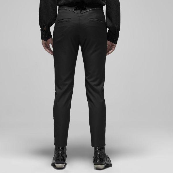 Elegante schwarze Hose mit Schnürung am Rücken